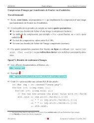 Compression d'images par transformée de Fourier ou d'ondelettes ...