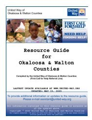 Resource Guide for Okaloosa & Walton Counties - 96th Force ...