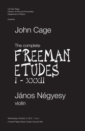 John Cage I - Department of Music - UC San Diego