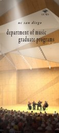 Uc san diego Department Of Music Graduate Programs