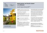 Lista degli hotel Svizzera tedesca - Raiffeisen MemberPlus
