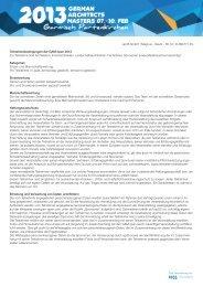 ap35 GmbH | Magirus - Deutz - Str.12 | D-89077 ... - GAM open 2013