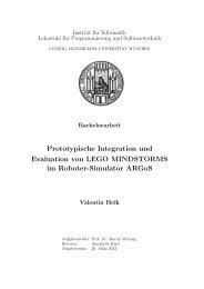 Prototypische Integration und Evaluation von LEGO MINDSTORMS ...