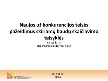 skaidrės. - LR Konkurencijos taryba