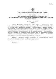 Projektas - LR Konkurencijos taryba