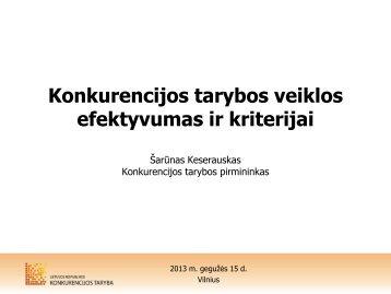 skaidrės - LR Konkurencijos taryba