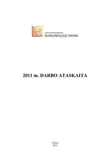 2011 m. Konkurencijos tarybos ataskaita - LR Konkurencijos taryba