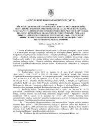 lietuvos respublikos konkurencijos taryba nutarimas dėl atsisakymo ...
