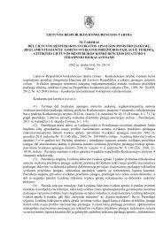 lietuvos respublikos konkurencijos taryba nutarimas dėl lietuvos ...