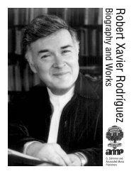 Robert Xavier RodríguezBiography and W - G. Schirmer, Inc.