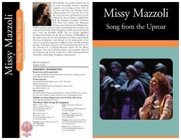 Missy Mazzoli - G. Schirmer, Inc.