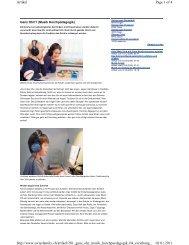 Online Artikel Swissfamily.ch – Ganz Ohr!? - a-p-p.ch