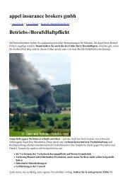 appel insurance brokers gmbh Betriebs-/Berufshaftpflicht - appel ib