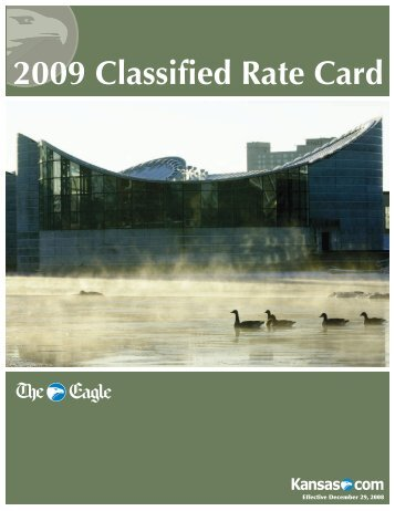 2009 Classified Rate Card - Wichita Eagle