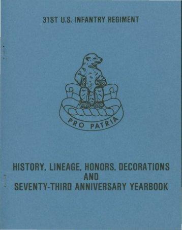 31st Infantry 73rd Yearbook Anniversary - Philippine Defenders Main