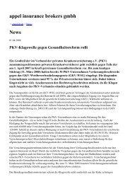 appel insurance brokers gmbh News - appel ib