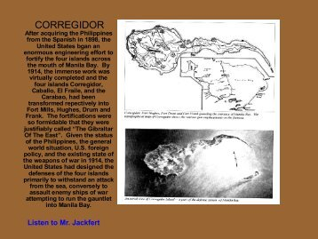 Part 2 (Corregidor and Fort Drum) - Philippine Defenders Main