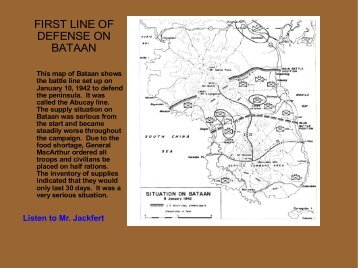 FIRST LINE OF DEFENSE ON BATAAN - Philippine Defenders Main