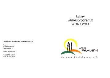 Unser Jahresprogramm 2010 / 2011 - Appenheim