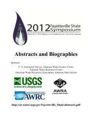 Abstracts and Biographies - Arkansas - USGS