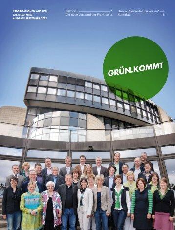 1209-Gruenkommt-Web - Bündnis 90/Die Grünen im Landtag NRW