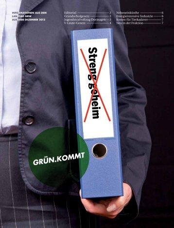 1212 Gruenkommt - Bündnis 90/Die Grünen im Landtag NRW