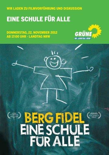 EiNE SCHULE FÜr ALLE - Bündnis 90/Die Grünen im Landtag NRW