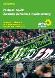 1305-Rechtsextremismus im Sport - Bündnis 90/Die Grünen im ...