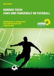 runder tisch fans und fangewalt im fussball - Bündnis 90/Die Grünen ...