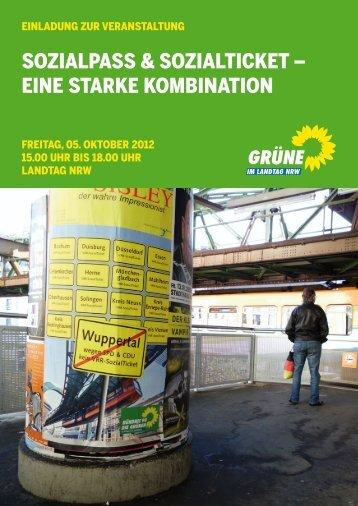 sozialpass & sozialticket - Bündnis 90/Die Grünen im Landtag NRW