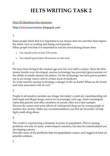 Sample essays pdf ielts