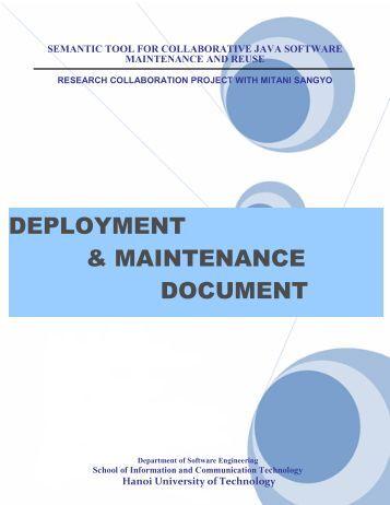 deployment & maintenance document - Find and develop open ...