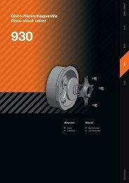 Disco-Rückschlagventile Disco check valves 930