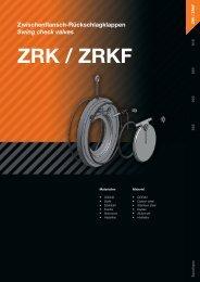 Zwischenflansch-Rückschlagklappen Swing check valves ZRK / ZRKF