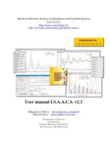 User manual I.S.A.A.C.S. v2.3