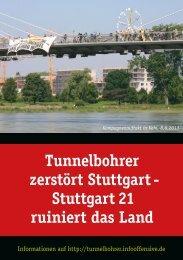Download Flugblatt - Tunnelbohrer