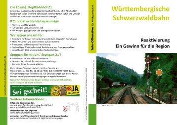 Württembergische Schwarzwaldbahn - InfoOffensive Baden ...