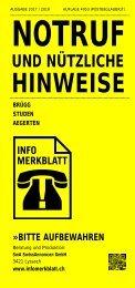 Infomerkblatt Brügg / Studen / Aegerten