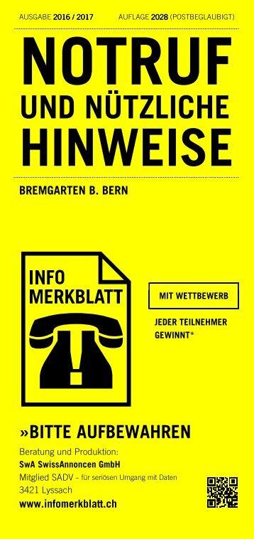 Infomerkblatt Bremgarten bei Bern