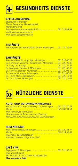 Infomerkblatt Münsingen und Umgebung
