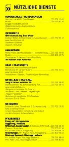 Infomerkblatt Schwarzenburg und Umgebung - Seite 7