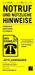 Infomerkblatt Grindelwald / Burglauenen / Lütschental
