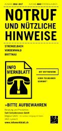 Infomerkblatt Strengelbach / Vordemwald / Brittnau