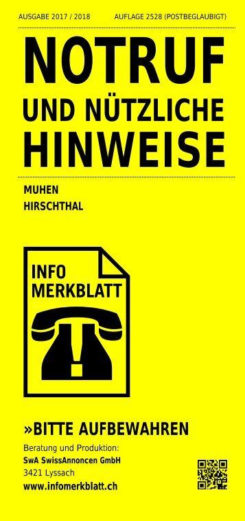Infomerkblatt Muhen / Hirschthal