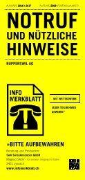 Infomerkblatt Rupperswil