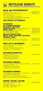 Infomerkblatt Niederrohrdorf / Oberrohrdorf und südliche Umgebung - Seite 6