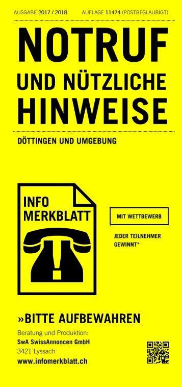 Infomerkblatt Döttingen und Umgebung