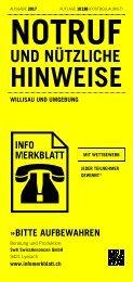 Infomerkblatt Willisau und Umgebung