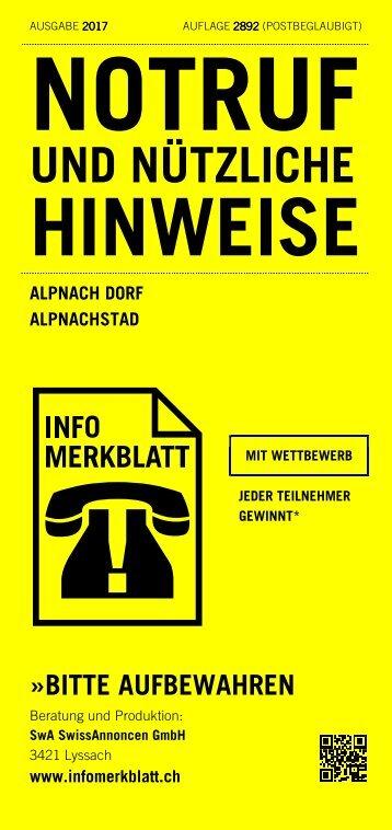 Infomerkblatt Alpnach Dorf / Alpnachstad
