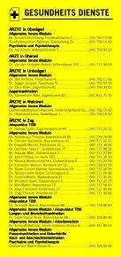 Infomerkblatt Zug und Umgebung - Seite 5